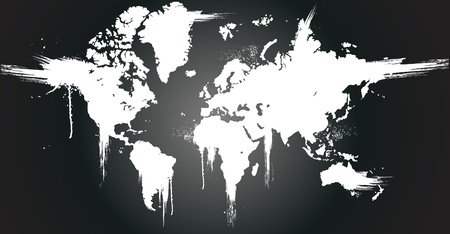 World ink splatter vector illustration   Vector
