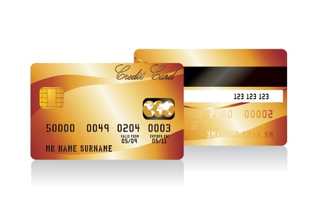 platin: realistische Vektor-Kreditkarte