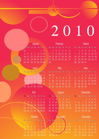 next year: Calendar for the next Year  Illustration