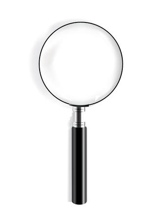 optical glass: Realistic vector magnifying glass
