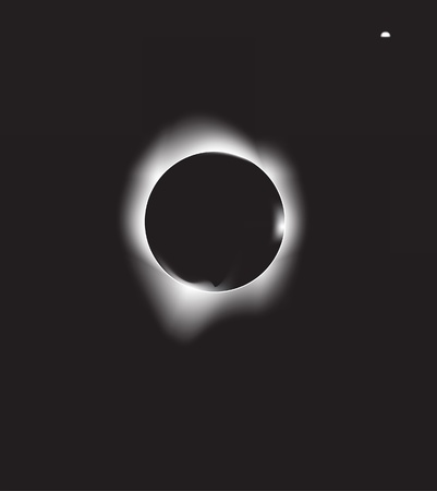 full moon effect: vector illustration of a solar eclipse