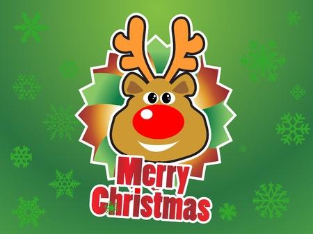 reindeer christmas Stock Vector - 8974312