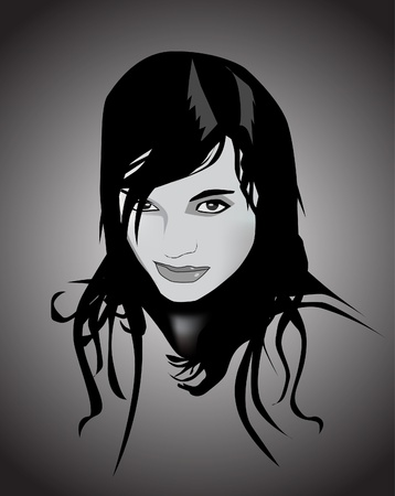 illustration of beautiful girl Vector