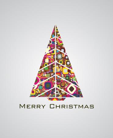 christmas graphic: Abstract christmas tree