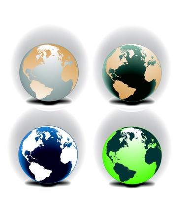Vector globe Stock Vector - 8974343