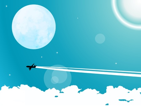 vapor trail: airplane flying in sky