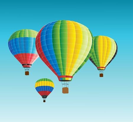 aerate: illustrazione vettoriale di aria calda baloon  Vettoriali