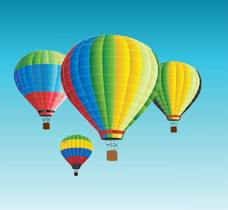 helium: vector illustration of hot air baloon  Illustration