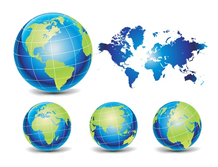 west europe: Globe of the World