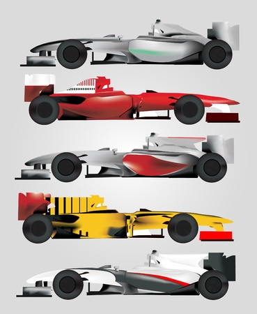 formula one: Race Car Vector