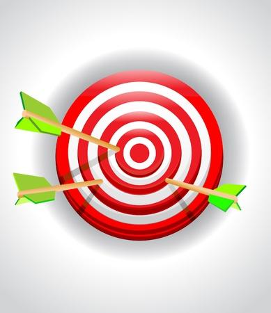 arco y flecha: Blanco con una flecha Vectores
