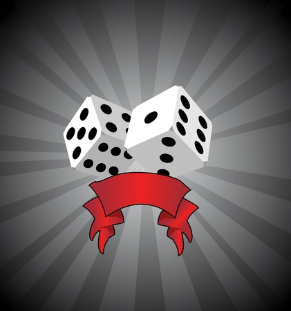 Vector white dice background Vector