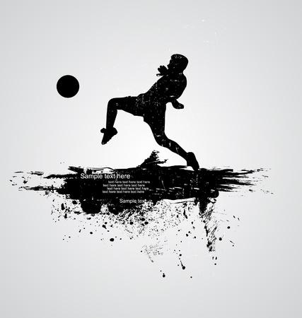 world player: el jugador de f�tbol vector