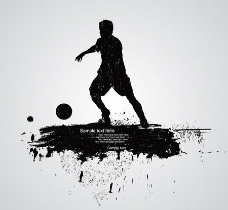 dribble: soccer player vector