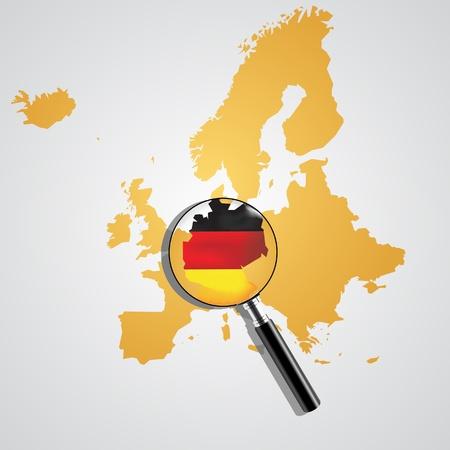 bounds: Europe map  Illustration