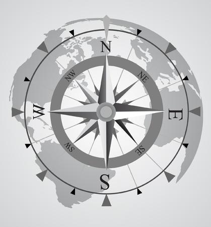 pfadfinderin: Vektor-Kompass Illustration