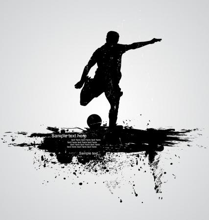 football silhouette: calciatore vettore