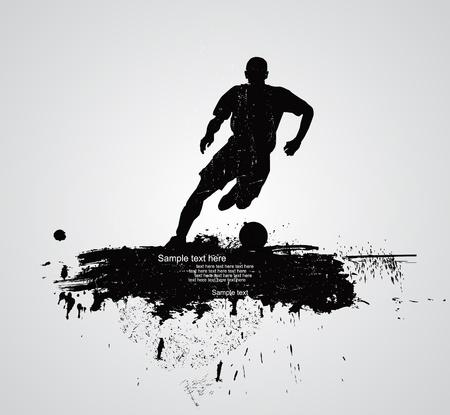 voetballer vector