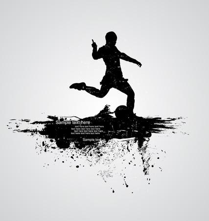 champ: soccer player vector