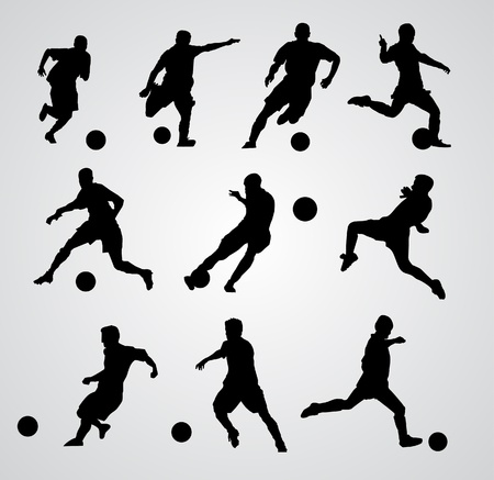 joueurs de foot: joueur de football vecteur Illustration