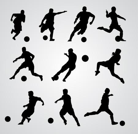 world player: jugador de f�tbol de vectores Vectores