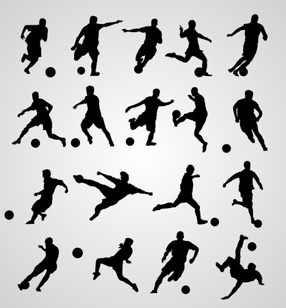 jugadores de soccer: jugador de f�tbol de vectores Vectores