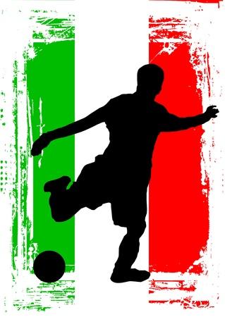 jugador de futbol soccer: el jugador de f�tbol vector