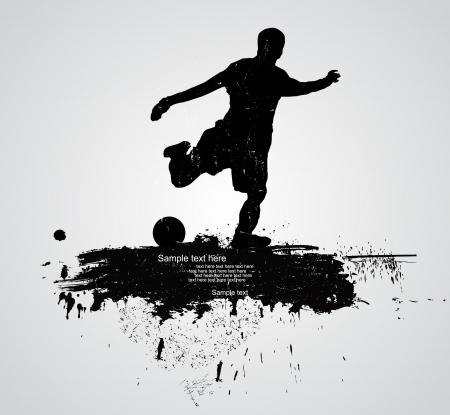 football match: calciatore vettore