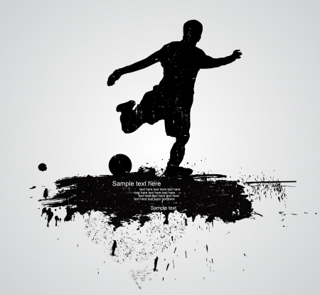 stade de football: joueur de football vecteur Illustration