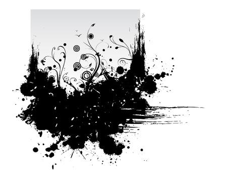 ink splat: Grunge background