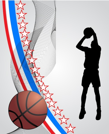 basketball player Stock Vector - 11551202