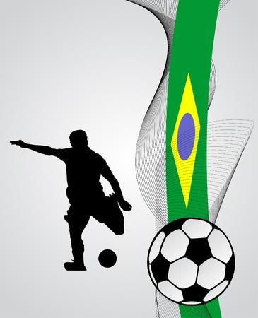 soccer player vector Vector