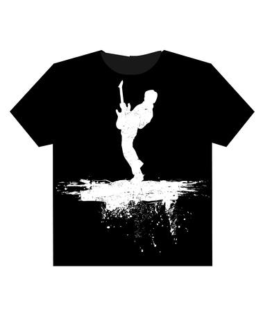 ふだん着: 孤立した t シャツの背景  イラスト・ベクター素材