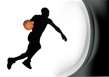 basketball dunk: basketball player