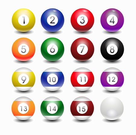 glossy pool balls Vector