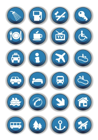 Turiste icons Stock Vector - 20659792