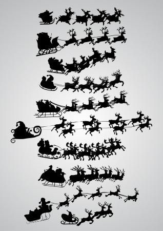 sledge: Pap� Noel Vectores
