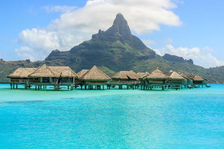 otemanu: overwater bungalow with mont otemanu in Bora Bora