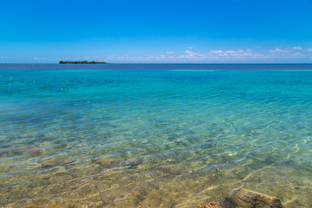 key of paradise: turquoise water in the caribbean Stock Photo