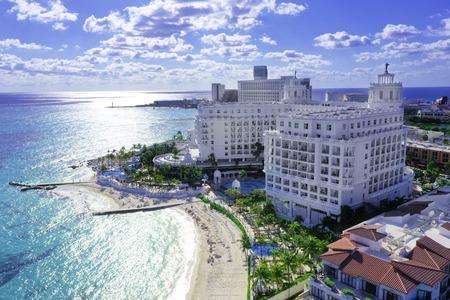 Cancun Mexico Beach 에디토리얼