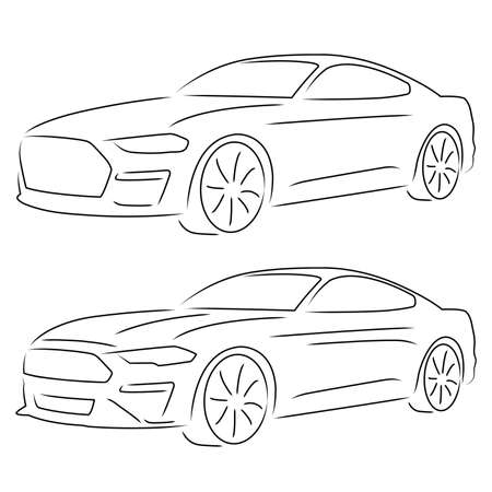 A simple sketch of a fast sports car