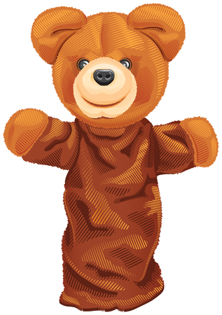 Vector Image puppet bear isolated