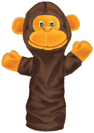tot: Vector isolated image of a monkey puppet Illustration