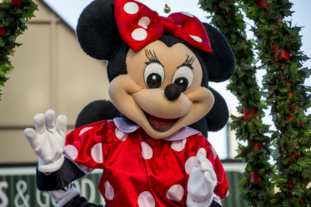 Minnie Mouse Disney Character in the Hamner Christmas Parade 2013 Editorial