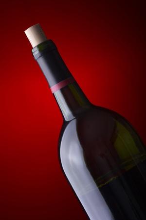 Closeup of a wine bottle