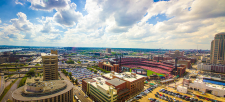 Day Clouds at Busch Stadium