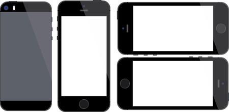 지문 스캐너와 공간 회색 휴대 전화