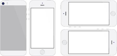 Silver Mobile Phone with a Fingerprint Scanner Imagens - 24053354