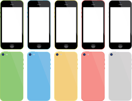 mobile device: Mobile Phone Color Illustration