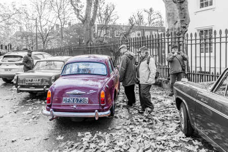 London, United Kingdom, November 16, 2019: Riley One-Point-Five a vintage vehicle
